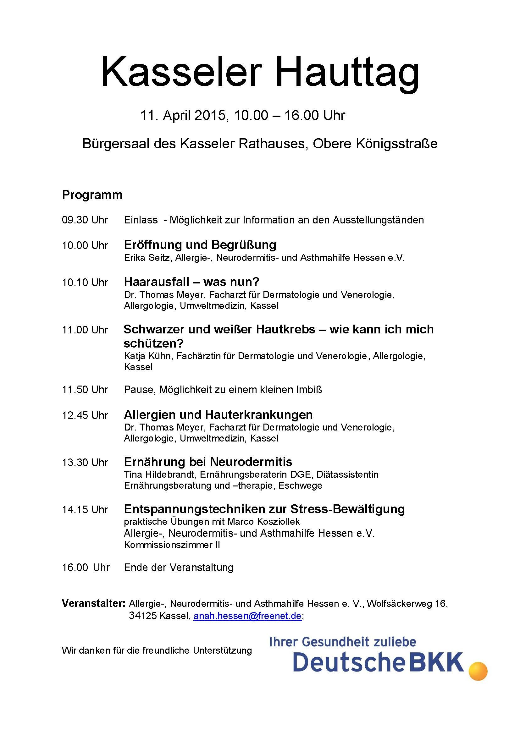 Kasseler Hauttag am 11. April 2015